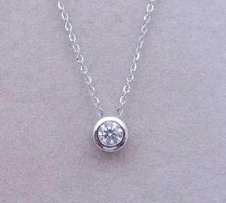 Diamond necklace minimalist