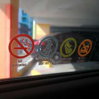 No smoking Car Decal Sticker