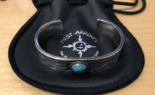 First Arrows Silver Turquoise Bracelet Size S