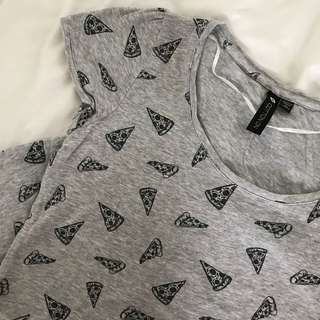Grey cotton on pizza shirt