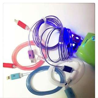 USB Cable Charge with LED Light
