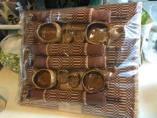 全新泰國四人筷子餐枱墊套裝