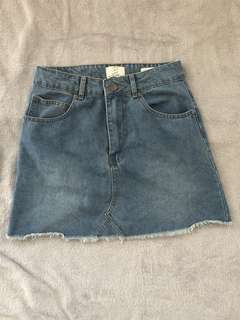 Cotton On | Size 8 | Denim A-line Skirt