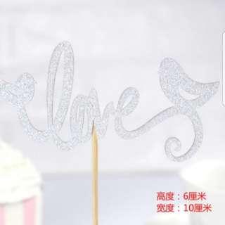 Love bird Wedding cake toppers/Birthday/Props