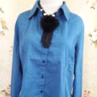 Mango blue shirt