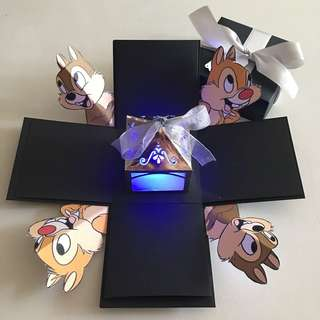 Diy chip and dale explosion box with lighthouse