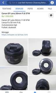 Lensa Canon ef 50mm f/1,8 STM