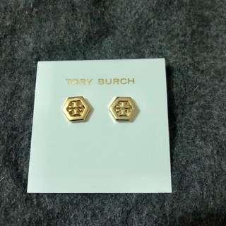 Tory Burch Earrings gold  六角形金色耳環