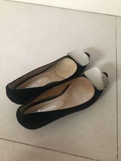 60%New Black velvet heel 60%新黑色絨面高踭鞋