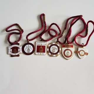 1980s Singapore Turf Club Badges