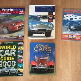 Car books and magazine