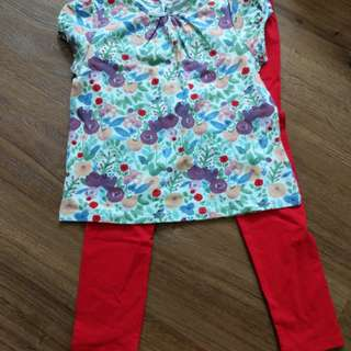 Poney Top and Leggings Set
