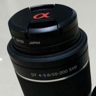 Sony SAL 55-200 SAM zoom lens