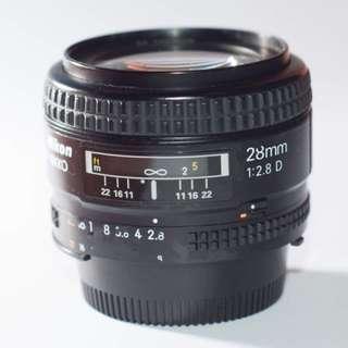 Nikon 28mm f2.8d