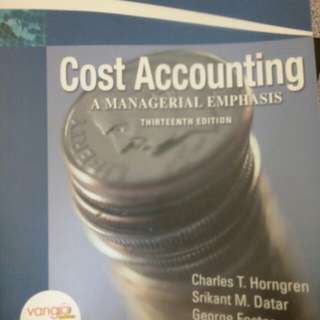 Cost accounting 13th edition