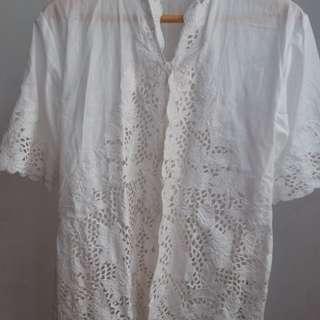 new kebaya top putih