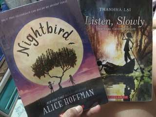 2 BOOKS NIGHTBIRD & LISTEN, SLOWLY