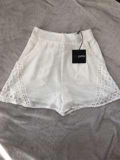 ASOS Petite | Size 6 | Lacy White Shorts