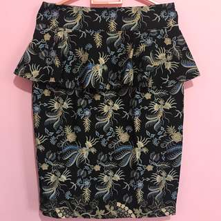 Batik Peplum Skirt
