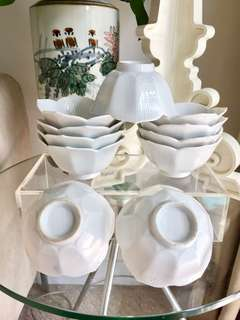 Vintage Porcelain Lotus Bowls