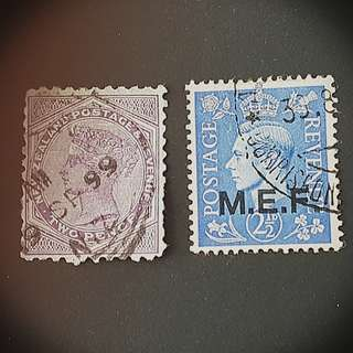 New Zealand Queen Victoria & MED KGVI stsmps