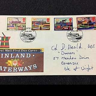 GB Great Britain UK Inland Waterways stamp FDC