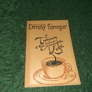 Novel Tuhan dalam secangkir kopi