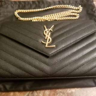 AUTHENTIC ysl woc wallet on chain bag