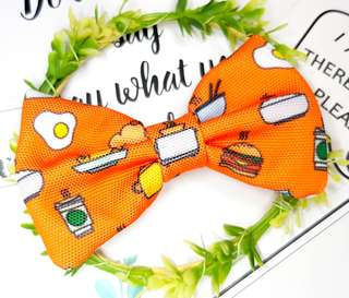 Its meal time, Orange Handmade , Dog Cat Bowties Bow tie , Clothing , Accessories , Pet Collars , Bandana,