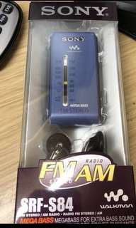 SONY DSE 考試收音機 SRF-S84