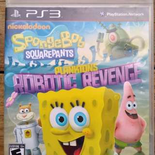 Original spongebob plankton robotic revenge ps3 games (very rare)