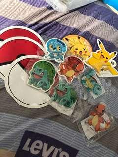 Pokemon x 沙嗲王 周邊小物 比卡超 小火龍 車里龜奇異種子