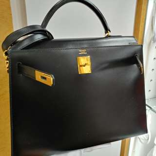 Hermes kelly 32 in black