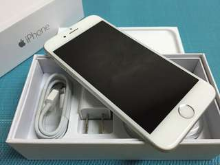 Iphone 6 plus 128gb Factory Unlocked White Silver Complete