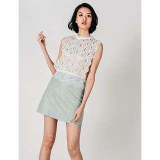 (PO) Muan Leatherette Skirt