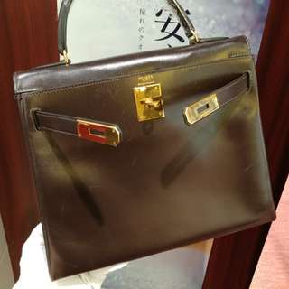 Hermes kelly 28 brown