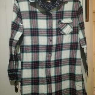 Flannel Blouse/Polo