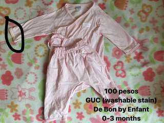 De Bon by Enfant 0-3 months Pajama Set
