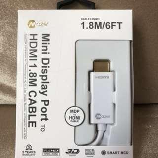 Mazar Mini Display Port to HDMI 1.8m Cable