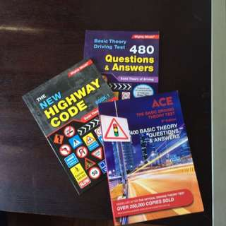 Singapore Driving Test Books X 3