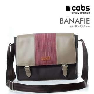 Cabs Pocket Banafie - Tas Selempang Pria Multifungsi Sling Bag Tas Laptop Notebook 14 Inch - Brown