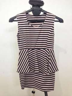 Mini dress garis-garis