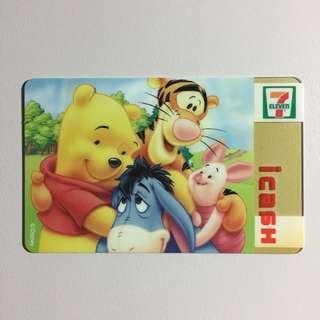 【個人收藏/全新】icash 小熊維尼限量卡 CARD-038 | Winnie the Pooh | Disney | 7-11 統一超商 | 收藏 絕版
