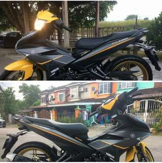 COVERSET MX KING GREY YELLOW KUNING 2017 2018 Y15ZR