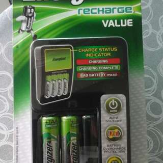 Battery Charger, charges 2 or 4 AA or AAA NIMH Batteries