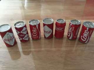 收藏精品-迷你可口可樂罐7隻