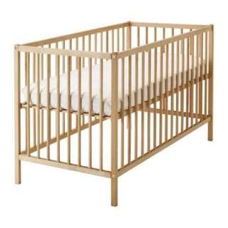 IKEA Baby Cot SNIGLAR (with mattress)
