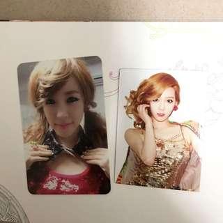 少女時代 tts twinkle tiffany小卡及泰妍磁貼