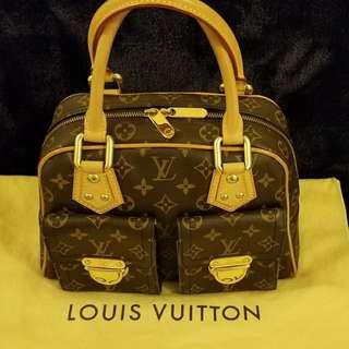Authentic Louis Vuitton Monogram Canvas Manhattan PM Bag