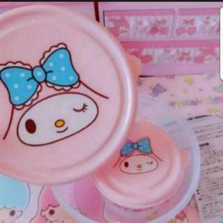 In Stock My Melody Food Container 2 In A Set